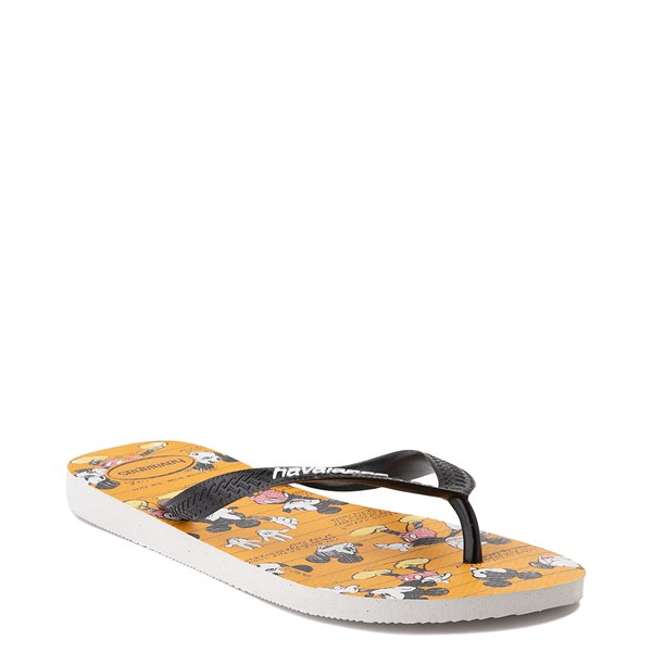 alternate view Havaianas Disney Stylish Mickey Mouse Sandal - Orange / BlackALT2