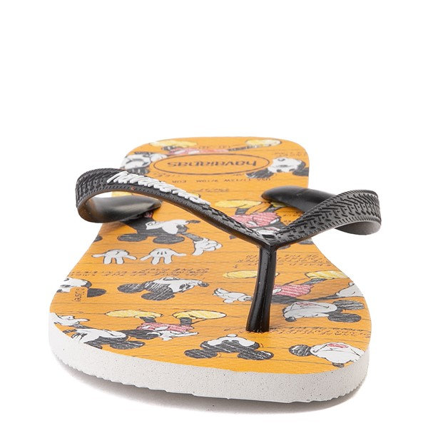 alternate view Havaianas Disney Stylish Mickey Mouse Sandal - Orange / BlackALT4