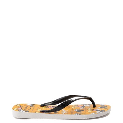 Alternate view of Havaianas Disney Stylish Mickey Mouse Sandal - Orange / Black