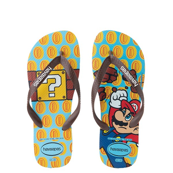 Main view of Havaianas Super Mario Sandal - Blue / Brown