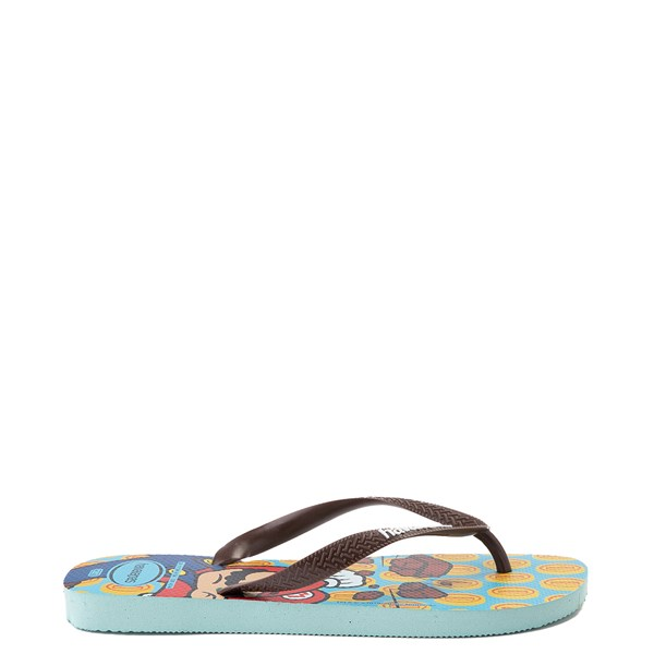 alternate view Havaianas Super Mario Sandal - Blue / BrownALT1