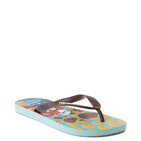alternate view Havaianas Super Mario Sandal - Blue / BrownALT2