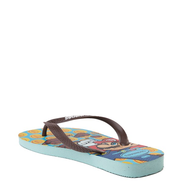 alternate view Havaianas Super Mario Sandal - Blue / BrownALT3