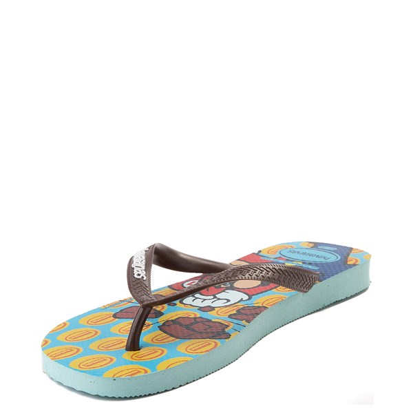 alternate view Havaianas Super Mario Sandal - Blue / BrownALT4
