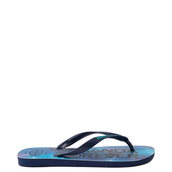 alternate view Havaianas Marvel Black Panther Top Sandal - NavyALT1