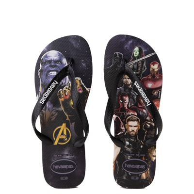 Main view of Havaianas Marvel Avengers Top Sandal - Black
