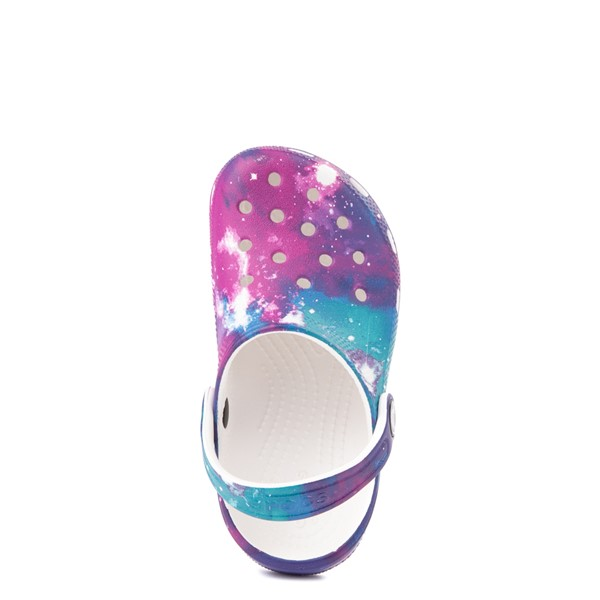 alternate view Crocs Classic Clog - Little Kid / Big Kid - Galaxy / WhiteALT4B