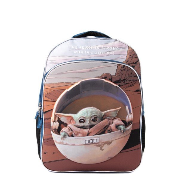 Main view of Mandalorian The Child Backpack - Blue