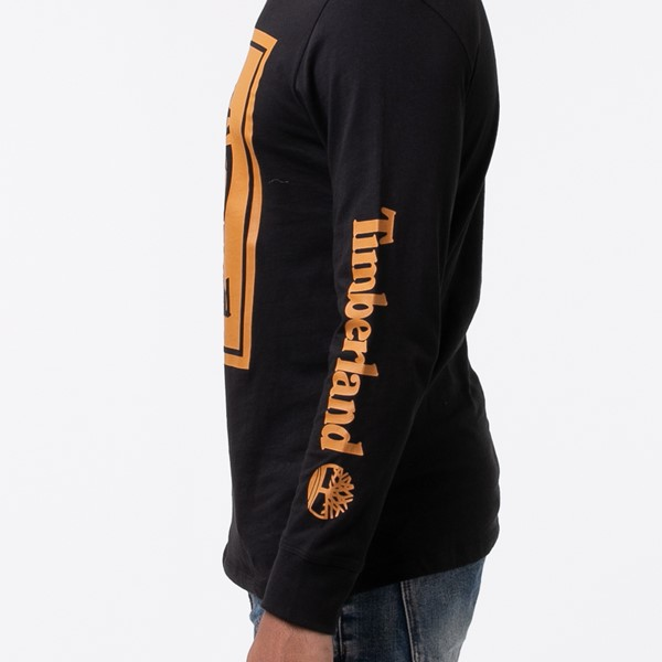 alternate view Mens Timberland Stacked Logo Long Sleeve Tee - BlackALT1C