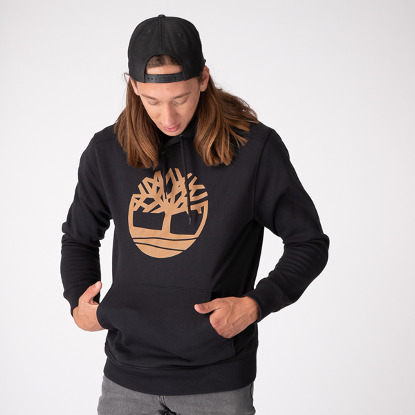 Main view of Mens Timberland Logo Hoodie - Black