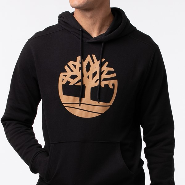 alternate view Mens Timberland Logo Hoodie - BlackALT1C