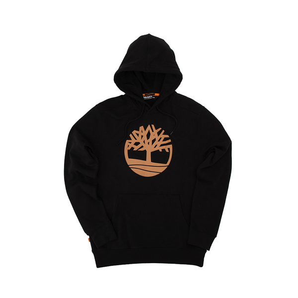 alternate view Mens Timberland Logo Hoodie - BlackALT2