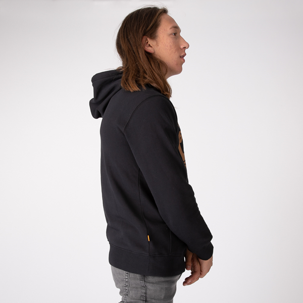 alternate view Mens Timberland Logo Hoodie - BlackALT3