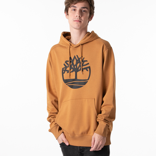 Main view of Mens Timberland Logo Hoodie - Wheat