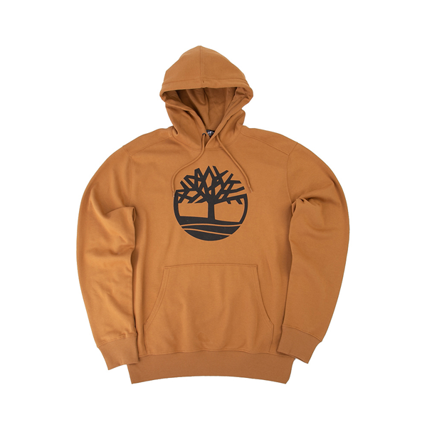 alternate view Mens Timberland Logo Hoodie - WheatALT2