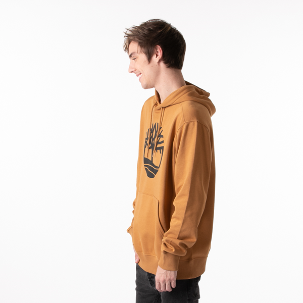 alternate view Mens Timberland Logo Hoodie - WheatALT3
