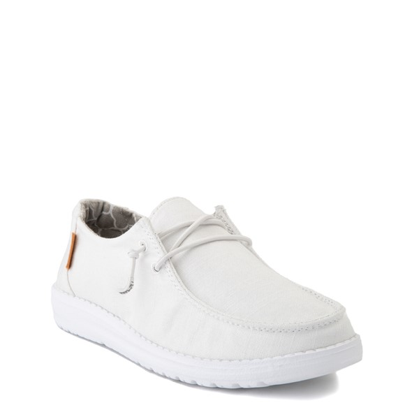 alternate view Hey Dude Wendy Slip On Casual Shoe - Little Kid / Big Kid - WhiteALT1