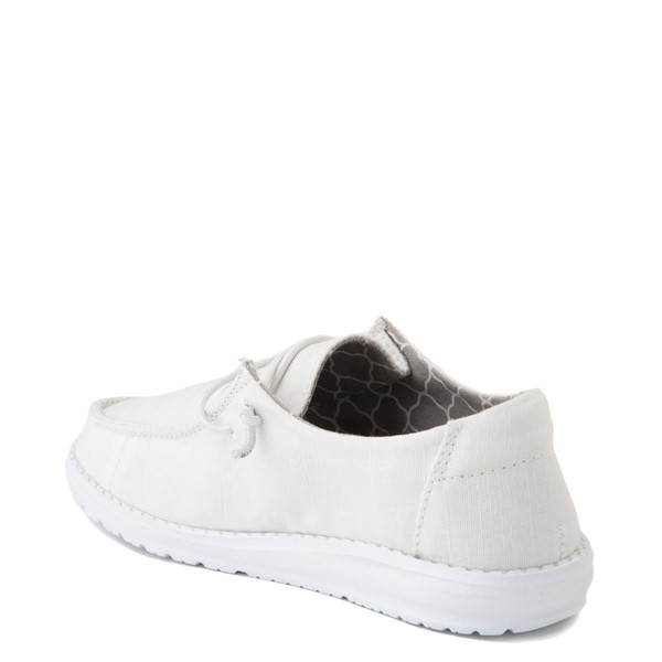 alternate view Hey Dude Wendy Slip On Casual Shoe - Little Kid / Big Kid - WhiteALT2