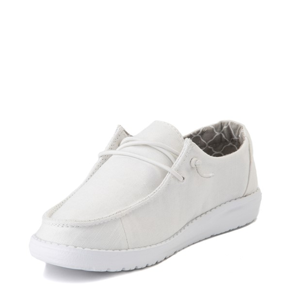 alternate view Hey Dude Wendy Slip On Casual Shoe - Little Kid / Big Kid - WhiteALT3