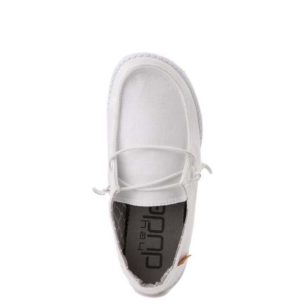 alternate view Hey Dude Wendy Slip On Casual Shoe - Little Kid / Big Kid - WhiteALT4B
