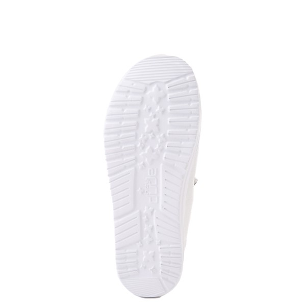 alternate view Hey Dude Wendy Slip On Casual Shoe - Little Kid / Big Kid - WhiteALT5