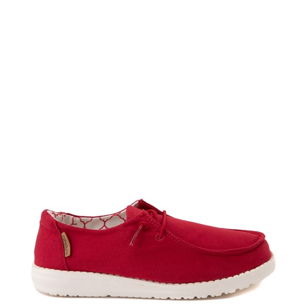 Main view of Hey Dude Wendy Slip On Casual Shoe - Little Kid / Big Kid - Red Rose