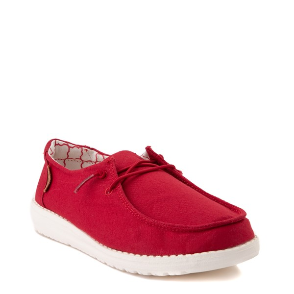 alternate view Hey Dude Wendy Slip On Casual Shoe - Little Kid / Big Kid - Red RoseALT1