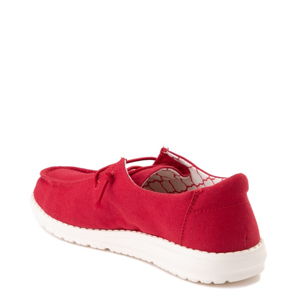 alternate view Hey Dude Wendy Slip On Casual Shoe - Little Kid / Big Kid - Red RoseALT2
