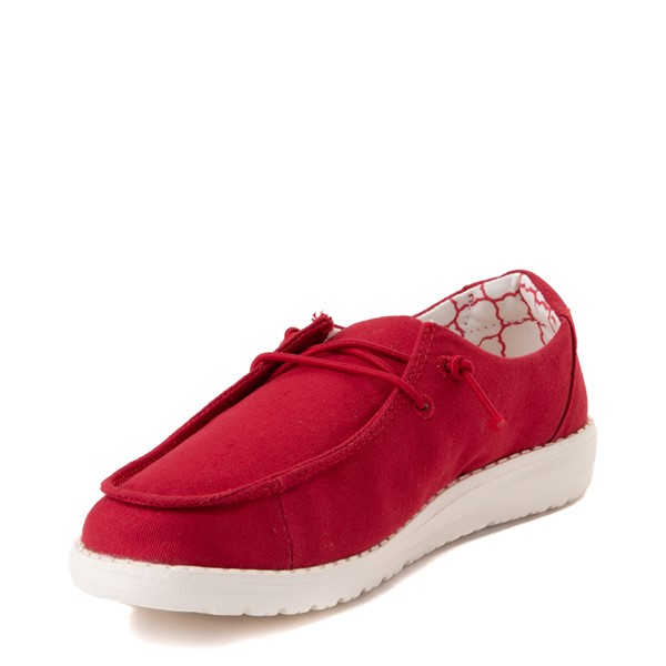 alternate view Hey Dude Wendy Slip On Casual Shoe - Little Kid / Big Kid - Red RoseALT3
