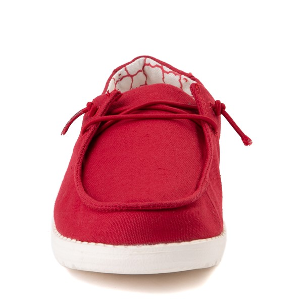 alternate view Hey Dude Wendy Slip On Casual Shoe - Little Kid / Big Kid - Red RoseALT4