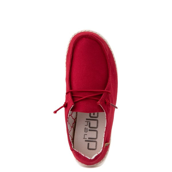 alternate view Hey Dude Wendy Slip On Casual Shoe - Little Kid / Big Kid - Red RoseALT4B
