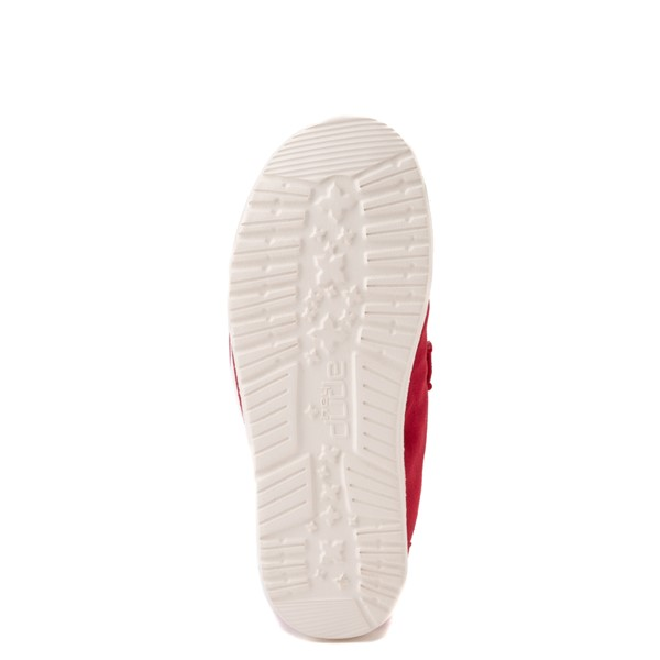 alternate view Hey Dude Wendy Slip On Casual Shoe - Little Kid / Big Kid - Red RoseALT5