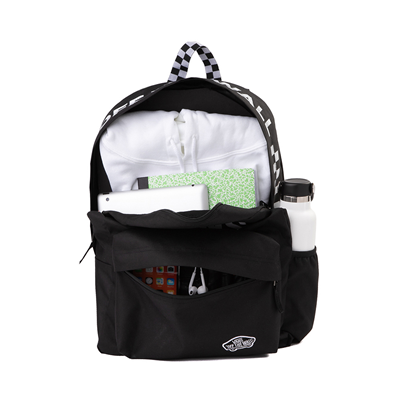 Alternate view of Vans Sporty Realm Checkerboard Backpack - Black / White