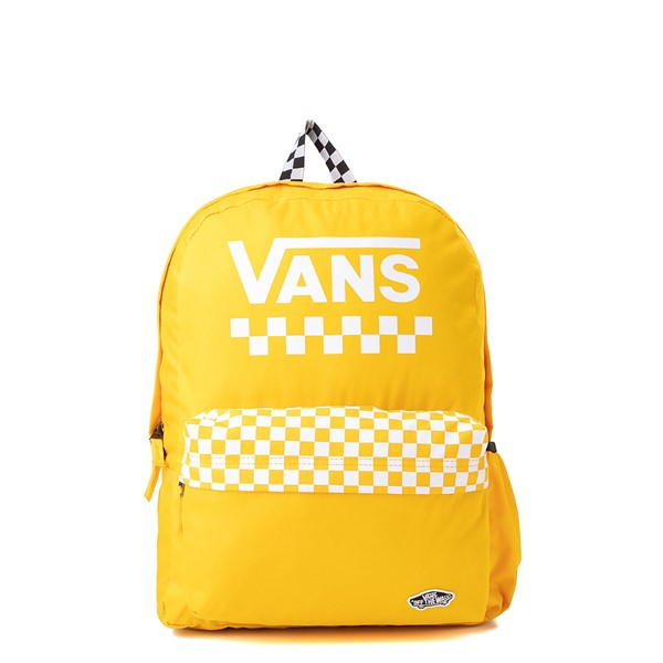 Main view of Vans Sporty Realm Checkered Backpack - Spectra Yellow