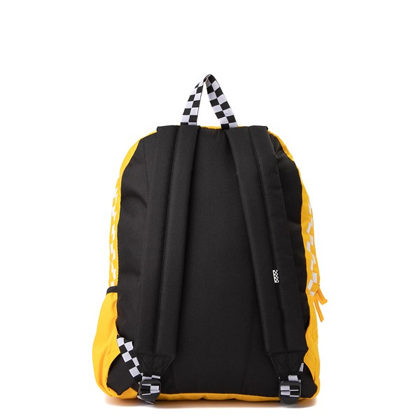 alternate view Vans Sporty Realm Checkerboard Backpack - Spectra YellowALT2