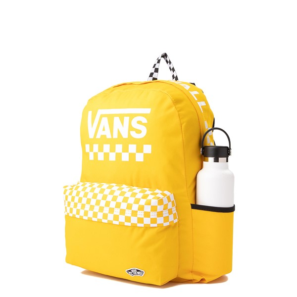 alternate view Vans Sporty Realm Checkerboard Backpack - Spectra YellowALT4