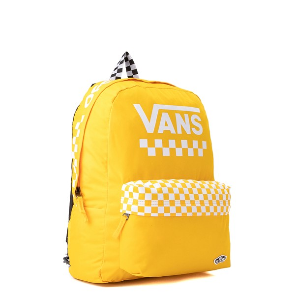 alternate view Vans Sporty Realm Checkerboard Backpack - Spectra YellowALT4B