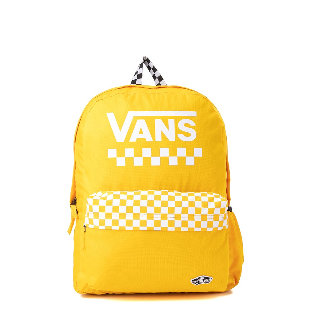 Vans Sporty Realm Checkerboard Backpack - Spectra Yellow