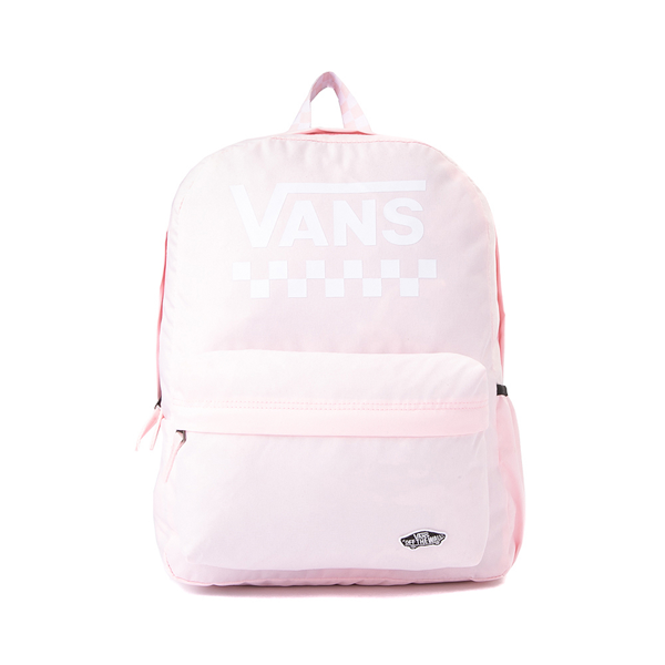 Main view of Vans Sporty Realm Checkerboard Backpack - Cool Pink