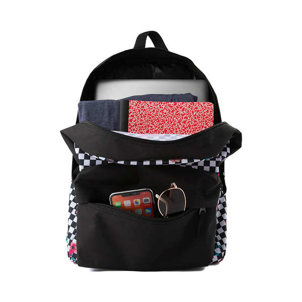 alternate view Vans Botanical Checkerboard Realm Backpack - Black / WhiteALT1