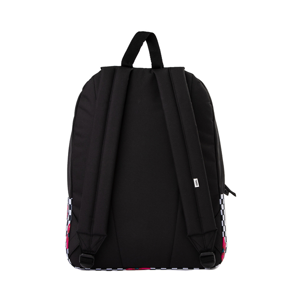 alternate view Vans Botanical Checkerboard Realm Backpack - Black / WhiteALT2