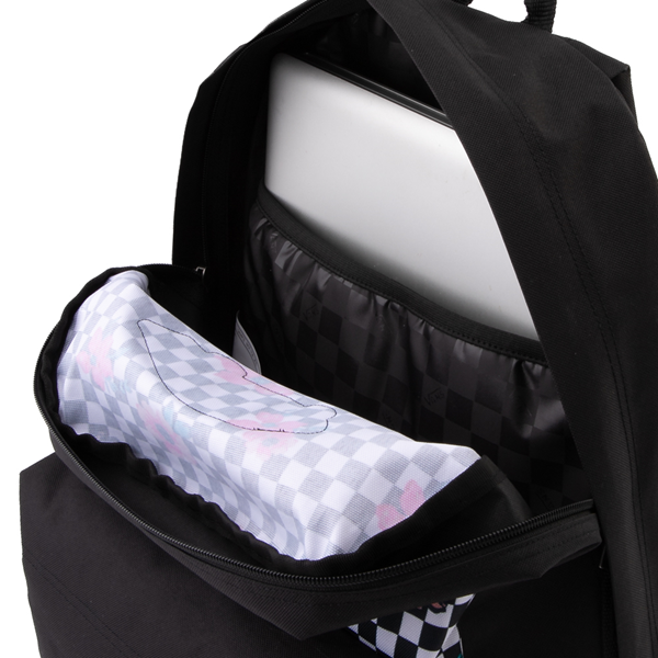 alternate view Vans Botanical Checkerboard Realm Backpack - Black / WhiteALT3