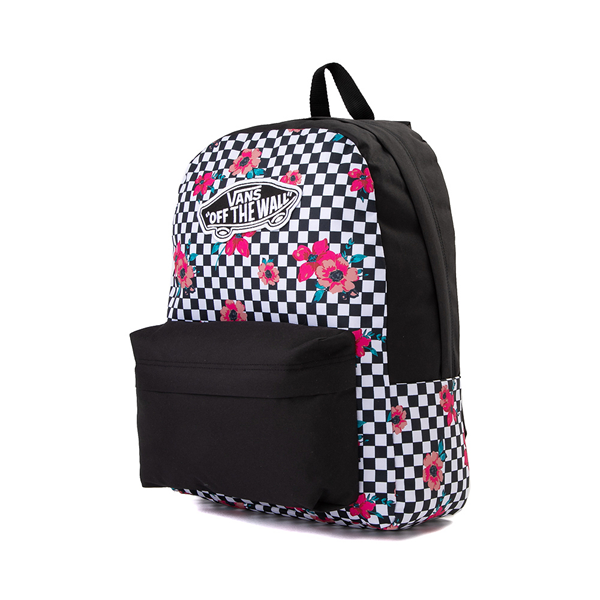 alternate view Vans Botanical Checkerboard Realm Backpack - Black / WhiteALT4