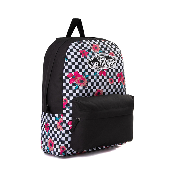 alternate view Vans Botanical Checkerboard Realm Backpack - Black / WhiteALT4B