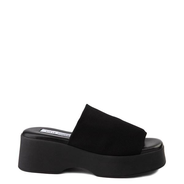 Womens Steve Madden Slinky Platform Slide Sandal - Black