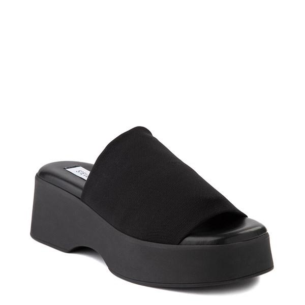 alternate view Womens Steve Madden Slinky Platform Slide Sandal - BlackALT1