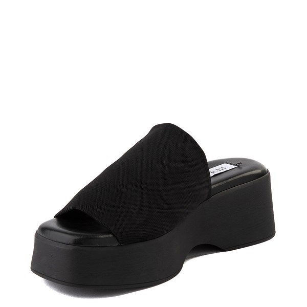 alternate view Womens Steve Madden Slinky Platform Slide Sandal - BlackALT3