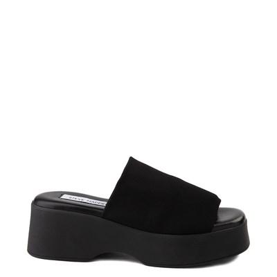 Main view of Womens Steve Madden Slinky Platform Slide Sandal - Black