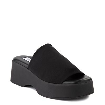 Alternate view of Womens Steve Madden Slinky Platform Slide Sandal - Black