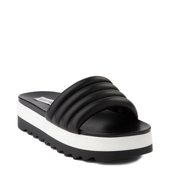 alternate view Womens Steve Madden Lazaro Platform Slide Sandal - BlackALT1